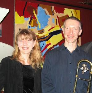 Dave Bones Portland Jazz Trombone and Gaea Schell LA Jazz Pianist